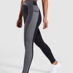 Gymshark Colour Block Grey & Black Leggings XS/S
